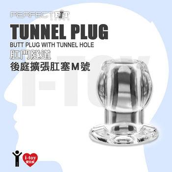 【M號透明】美國玩美先生 Perfect Fit Brand 肛門隧道後庭擴張肛塞 TUNNEL PLUG CLEAR