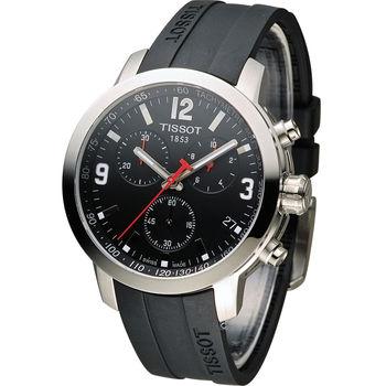 TISSOT PRC 200 競速時尚運動錶 T0554171705700 黑