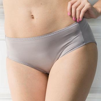 華歌爾-簡單要素無痕款M-LL中腰三角褲(經典灰)