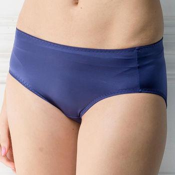 華歌爾-簡單要素無痕款M-LL中腰三角褲(星空藍)