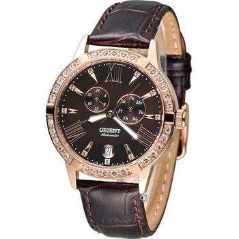 東方錶 ORIENT Elegant 璀璨時光機械錶 FET0Y001T 咖啡色