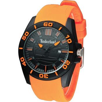 Timberland Dunbarton 野外探險時尚休閒錶 TBL.14442JPB/02P 黑x橘