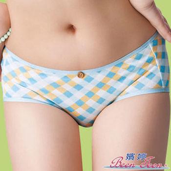 #【嬪婷】 吊帶美妹M-LL平口褲(繽紛藍)