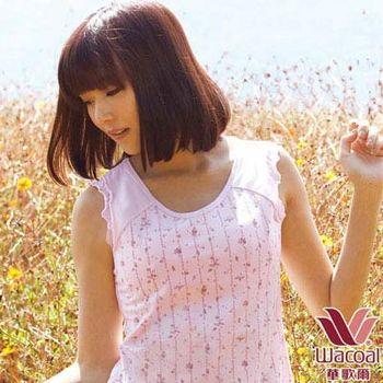 【華歌爾】環保有機棉植物印素面M-LL背心(茜草粉)
