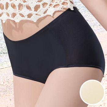 華歌爾-COOL冰涼褲M-3L高腰三角褲(冰晶黃)