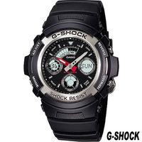 CASIO G ^#45 SHOCK 雙顯 錶 AW ^#45 590 ^#45 1A 黑
