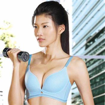 【華歌爾】凍cool & 愛運動B-E罩杯內衣(冰凍藍)