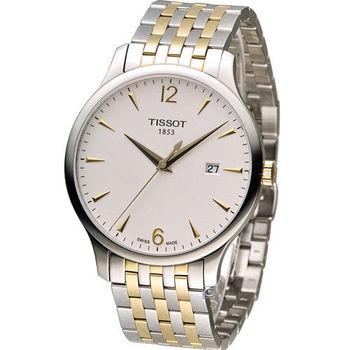 TISSOT T-TRADITION 極簡雅士 時尚腕錶-T0636102203700 雙色