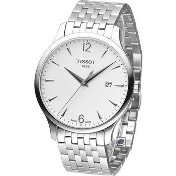 TISSOT T-TRADITION 極簡雅士 時尚腕錶-T0636101103700 白