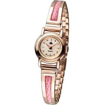 Rosemont 骨董風玫瑰 手鐲型淑女錶 TRS-019-05CS-PK 粉色x玫瑰金色