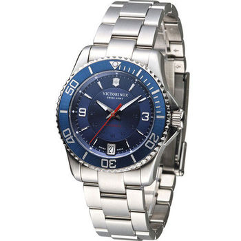 Victorinox Maverick 運動時尚女用機械錶 VISA-241709 藍