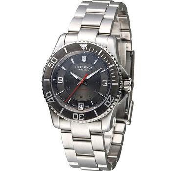 Victorinox Maverick 運動時尚女用機械錶 VISA-241708 灰
