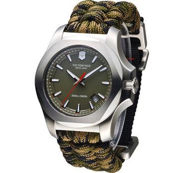 Victorinox 維氏 INOX Paracord 軍事標準專業套組錶 VISA-241727.1 綠