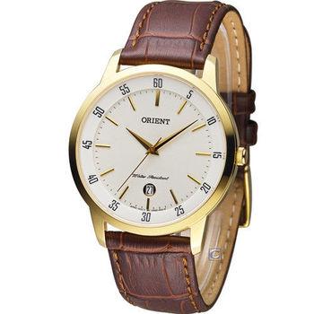 東方錶 ORIENT 日系簡約時尚紳士錶 FUNG5002W 金色