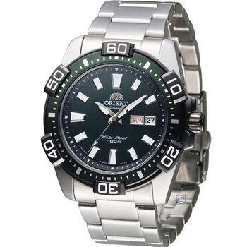 東方錶 ORIENT 競技運動機械錶 FEM7R001F 綠色