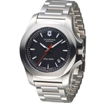 Victorinox 維氏 INOX 軍事標準專業腕錶 VISA-241723.1 黑