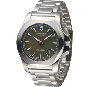 Victorinox 維氏 INOX 軍事標準專業腕錶 VISA-241725.1 綠