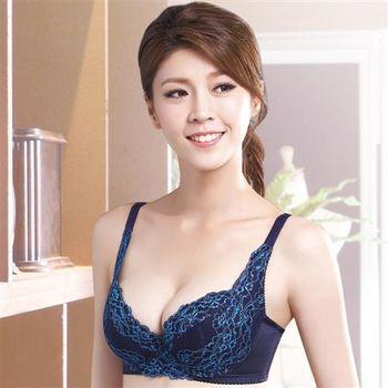 莎薇-側魔翼B-E罩杯內衣(寶石藍)