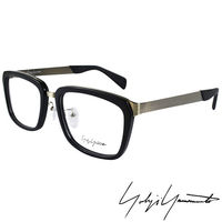 Yohji Yamamoto 山本耀司 方型 前衛光學眼鏡 ^#45 黑銀 ^#45 YY