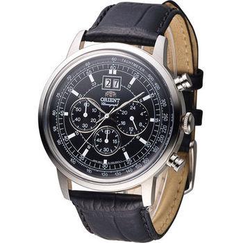 東方錶 ORIENT 當代經典尊爵計時腕錶 FTV02003B 黑