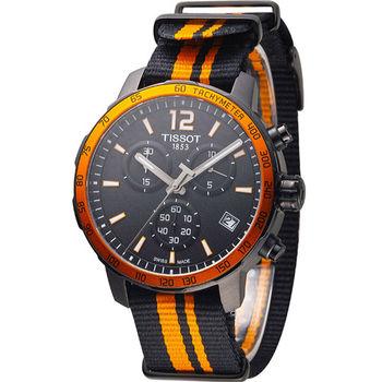 TISSOT T-SPORT 天梭飆速計時腕錶 T0954173705700 帆布帶