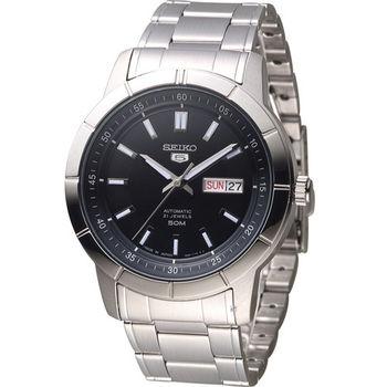 SEIKO 精工5號 穿越星際機械腕錶 7S26-04E0D SNKN55J1 黑