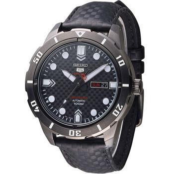 SEIKO SPORTS 限量精工5號機械腕錶 4R36-04J0K SRP721J1 黑
