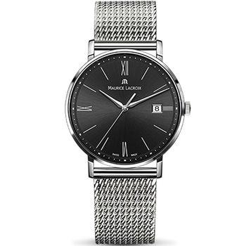 Maurice lacroix 艾美 ELIROS系列時尚紳士腕錶 1087-SS002-312-1 黑x鋼