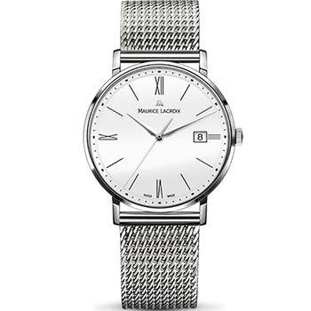 Maurice lacroix 艾美 ELIROS系列時尚紳士腕錶 1087-SS002-111-1 白x鋼
