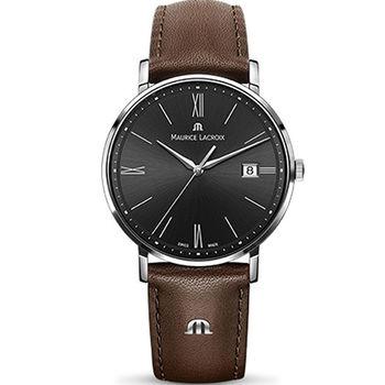 Maurice lacroix 艾美 ELIROS系列時尚紳士腕錶 1087-SS001-312-2 黑x咖啡