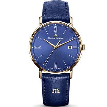 Maurice lacroix 艾美 ELIROS系列時尚紳士腕錶 1087-PVP01-410-1 藍
