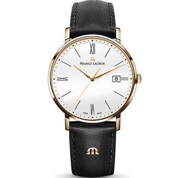 Maurice lacroix 艾美 ELIROS系列時尚紳士腕錶 1087-PVP01-111-1 銀x黑