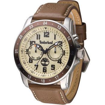 Timberland BELLAMY 叢林冒險王 日曆腕錶 TBL.14109JSTBN/06 淺咖啡