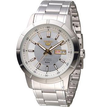 SEIKO 精工5號 穿越星際機械腕錶 7S26-04E0Y SNKN53J1 白
