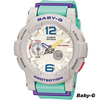 Baby-G 滑板極限運動錶 BGA-180-3B 白x藍
