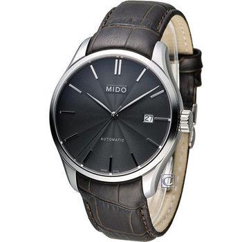MIDO Belluna II 80小時動力儲存機械錶腕錶 M0244071606100 黑x咖啡皮