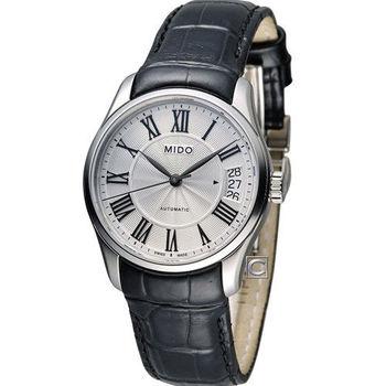 MIDO Belluna II 時尚名媛80小時動力儲存機械錶腕錶 M0242071603300 白x黑