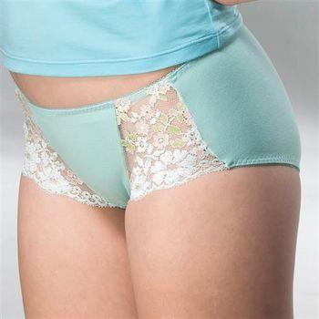 華歌爾 典雅迷人M-LL中低腰平口褲(湖水綠)