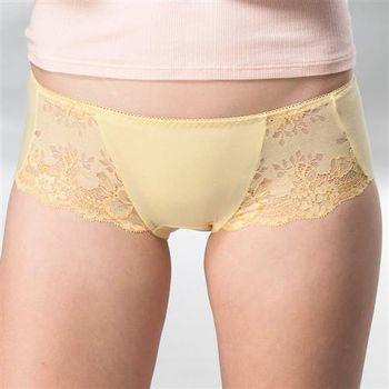 華歌爾 典雅迷人M-LL中低腰平口褲(曙光黃)