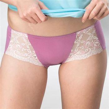 華歌爾 典雅迷人M-LL中低腰平口褲(藏紅紫)
