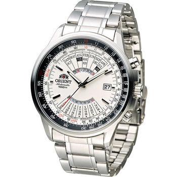 ORIENT 東方錶 MULTI-YEAR CALENDAR系列簡易萬年曆機械錶 FEU07005W 白