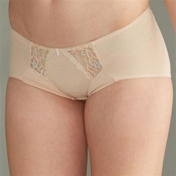 華歌爾 華麗花卉M-LL低腰三角褲(粉妝膚)