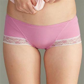 華歌爾 可愛花蔓M-LL中低腰平口褲(閃亮紫)