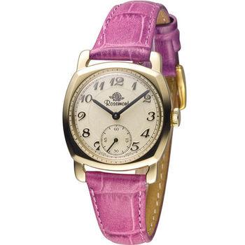 玫瑰錶 Rosemont 戀舊系列時尚錶 TN001-YWA-EMG 金色x紫