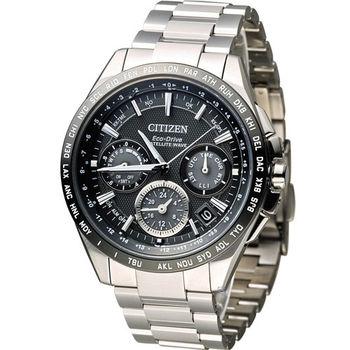 星辰 CITIZEN 光動能【鈦】感光衛星計時腕錶 CC9015-54E 黑
