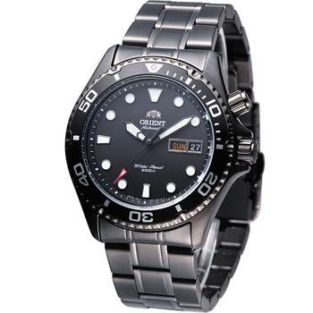 ORIENT 海洋征服者200M防水機械錶 FEM65007B 全黑色
