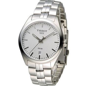 天梭 TISSOT PR-100 經典運動時尚腕錶 T1014101103100 白