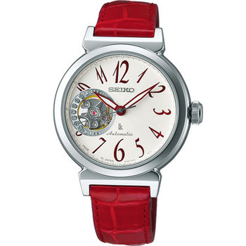 精工 SEIKO LUKIA 氣質名媛 機械錶 4R38-00N0R SSA895J1 紅色