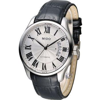 美度錶 MIDO Baroncelli II羅馬假期機械腕錶 M0244071603300 白羅 皮