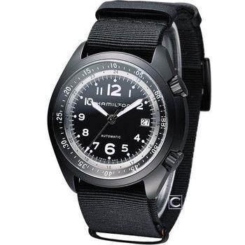 HAMILTON 卡其飛行先鋒機械腕錶 H80485835 黑